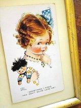 アトウェルのカード 青いリボンの女の子 英国