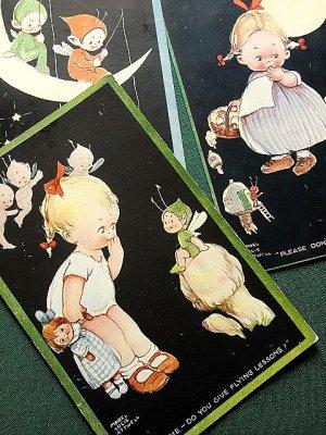 画像3: ピクシーと月と女の子 アトウェル カード 英国