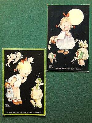 画像5: ピクシーと月と女の子 アトウェル カード 英国