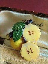 フレッシュレモン セルロイドのブローチ