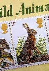 イングランドの動物切手 5種