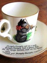 バイオリンを弾く猫 ハンプティ ダンプティ カップ&ソーサー ナーサリーウェア イギリス