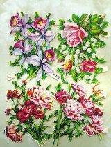 春のクロモス カーネーション アイリス 薔薇 スズラン