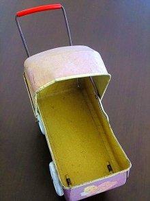 他の写真1: ブリキの乳母車 ドール用サイズ ベビーカー テディベアにも
