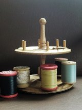 糸巻き立て 木製 スプールホルダー