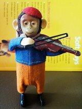 おさるのバイオリン弾き ねじ巻きトイ アンティーク ドイツ シュコー