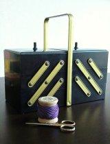 ソーイングボックス フォールディングタイプ 裁縫箱