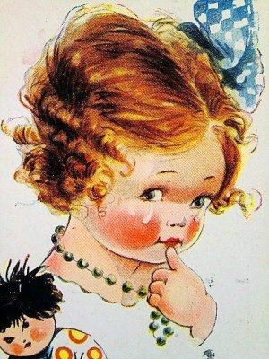 画像3: アトウェルのカード 青いリボンの女の子 英国