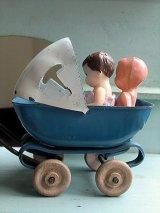 ベビーバギー 人形用うばぐるま  ブリキのベビーカー