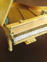 弾けたらいいね! メタルのピアノ ミニチュア ドールハウス