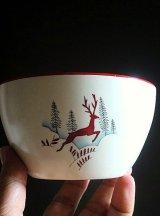 赤い鹿 ボウル クラウン デボン窯  ストックホルム from London