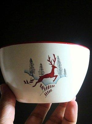 画像1: 赤い鹿 ボウル クラウン デボン窯  ストックホルム from London