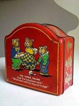 三匹の熊の缶 ヴィンテージ from London