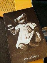 テディベア GOOD NIGHT アンティーク ポストカード