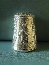 銀のゆびぬき うさぎのシンブル シルバー ソーイング