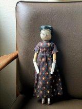 アンティーク ウッドドール ペグドール 30cm 人形の家