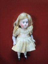 ビスクドール アンティークミニョネット ドイツ 13cm ケストナー ドールハウス オリジナルドレス