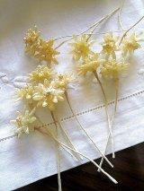 ワックスフラワー 花嫁のティアラ オレンジの花 ドイツのアンティークパーツ クラフトに