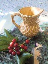 アザミの小さなジャグ シルバック 英国 ピッチャー クリーマー 花器