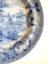 ブルー&ホワイト 皿 アンティーク プレート 2. イギリス