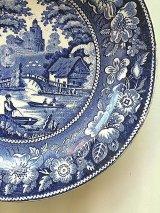 ブルー&ホワイト 皿 アンティーク プレート 1. イギリス