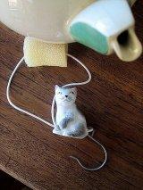猫のドリップキャッチャー ティ-ポット ミニチュア ドイツ 陶器