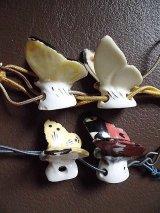 ミニチュアフィギア 蝶ちょ ドイツの陶器 ドリップキャッチャー 針山・置物にも