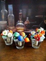LAST ONE!チェコガラスの細工 カードスタンド プレイスカード テーブル パーティー