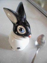 赤い鼻のパンダウサギ マスタードポット ヴィンテージ