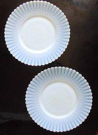 LAST ONE! 白いガラス皿 サイドプレート ケーキ皿 マクベス エバンス ヴィンテージ
